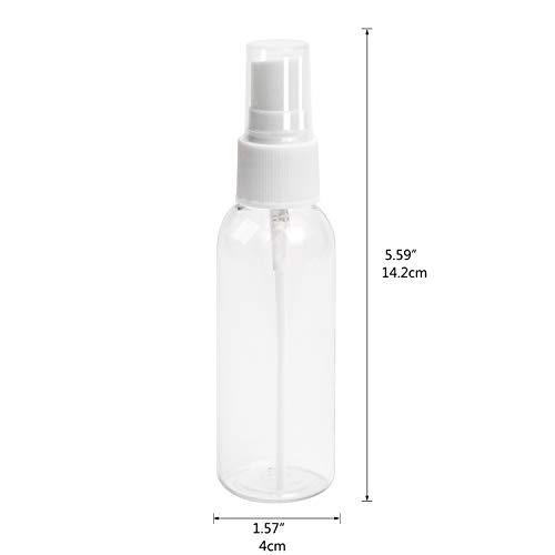 HOMVAN Atomizzatore riutilizzabile trasparente bottiglie di plastica spray da 100 ml con pompe atomizzatore Bottiglie vuote in plastica trasparente per oli essenziali viaggi profumi
