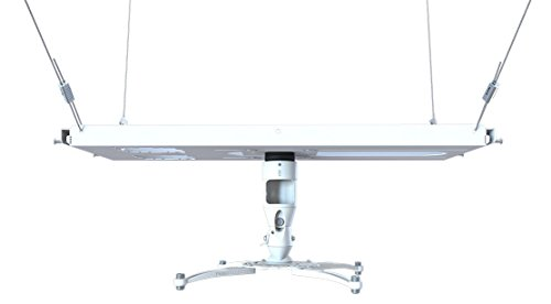 Premier Mounts MAG-FCTAW-QL Projector Mount and T-bar Adapter with Quick Lock Cable, White