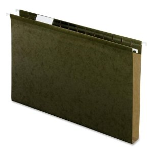 Pendaflex Reinforced 1 inch Extra Capacity Hanging Folders, Legal, Standard Green, 25/Box