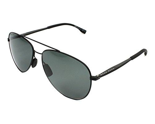Hugo Boss 0938/S 2P6 Black Rubber 0938/S Aviator Sunglasses Lens Category 3 - Womens Sunglasses Boss Hugo