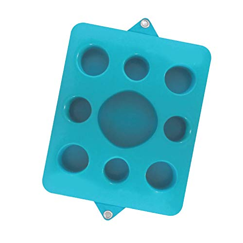 Lazy Floats Floating Refreshment Drink Tray-Perfect for Pools Sandbars Parties  (Single, Seafoam Blue)