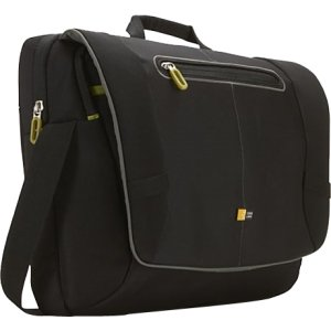 "17"" Black Notebook Messenger Briefcase  -"