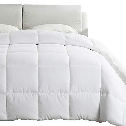 EMONIA Full/Queen Size Comforter for Summer,White Quilted Down Alternative Duvet Insert-Hotel Collection Reversible Hypoallergenic Light and Machine Washable by EMONIA (Image #8)