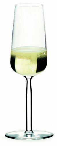 Iittala Senta 7-1/2 Ounce Clear Champagne Glass-Set of 2 (Glass Iittala Champagne)