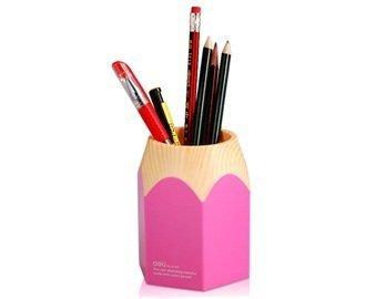 Wisedeal Creative Pencil Tip Design Pen Holder (Pink) (1, Pink)