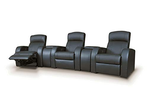 Coaster Home Furnishings Cyrus Home Theater Upholstered Console Wedge Black