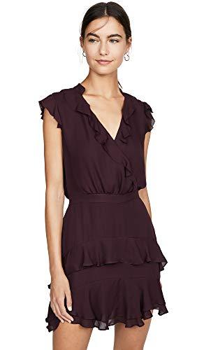Parker Women's Tangia Flutter Sleeve Short Dress, Maroon, 4 from Parker