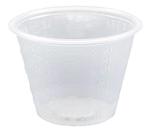 Non-Sterile 1 Oz. Graduated Plastic Medicine Cups, 100 Count
