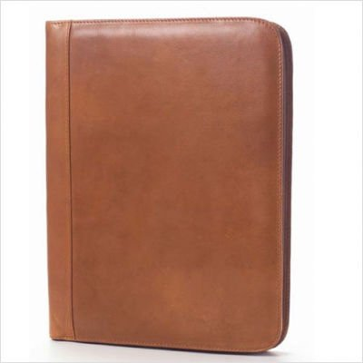 Tuscan Zip Padfolio in Tan Customize: Yes