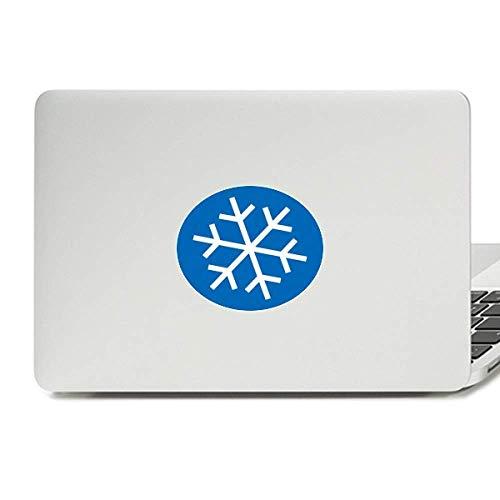 Winter Sport Snowflake Blue Silhouette Vinyl Skin Laptop Sticker Notebook Decal