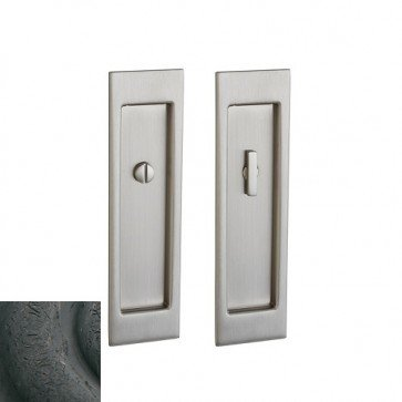 Baldwin PD005.IPS Santa Monica Style Pocket Door Passage Trim Half Pair from the, Distressed Oil Rubbed Bronze