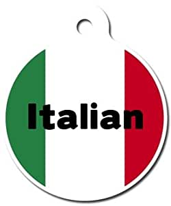 Italian Flag Full-Color Personalized Custom Key Chain
