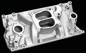 Professional Products 52007 Polished Cyclone Intake Manifold for Small Block Chevy Vortec (1999 Chevy Tahoe Intake Manifold compare prices)