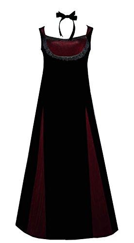 Victorian Valentine Steampunk Vintage Inspired Black Burgundy Gothic Velvet Dress