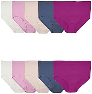 Fruit of the Loom Women's Underwear Breathable Panties (Regular & Plus Size) Colors May Vary