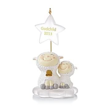 hallmark 2013 godchild ornament home kitchen