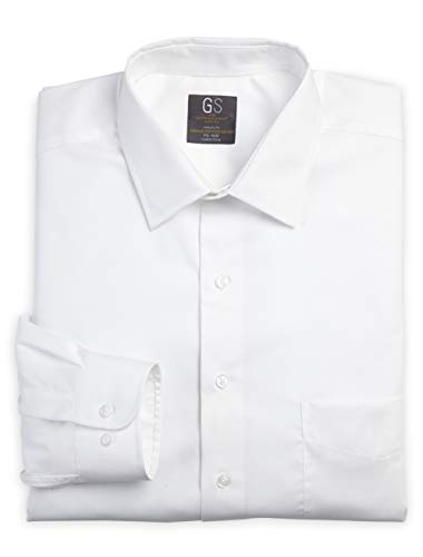 Gold Series by DXL Big and Tall Broadcloth Dress Shirt (22 35/36, White)