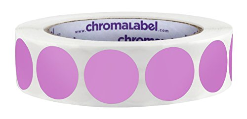 ChromaLabel 1 inch Color-Code Dot Labels | 1,000/Roll (Violet) -