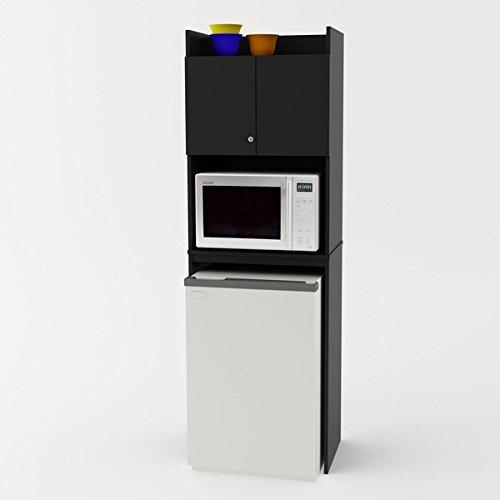 Altra Black Stipple Refrigerator Storage Cabinet by Altra Black (Image #1)