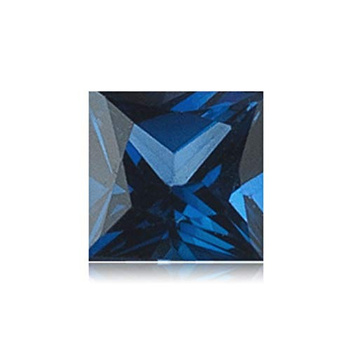 2.11-2.59 Cts of 7x7 mm AAA Square Princess Cut Swiss Made Rough Synthetic Blue Sapphire (1 pc) Loose Gemstone