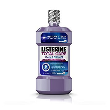 Listerine Total Care Stain Remover Anticavity Mouthwash, Fresh Mint, 16 Fl. Oz - Pack of 3