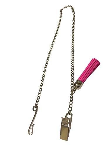 Zipper Genie with Suede Tassel, Pink