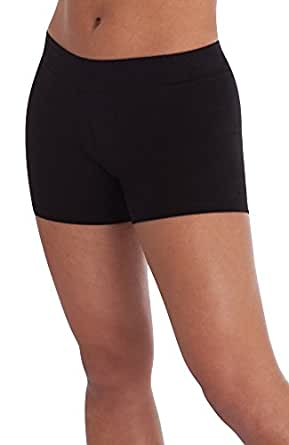 Body Wrappers Cotton Boy-Cut Shorts, Black, X-Small