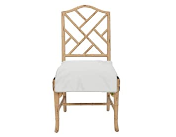 Amazon.com: Messy Marvin Wipeable Dining Chair Seat Cover (Ivory): Home U0026  Kitchen