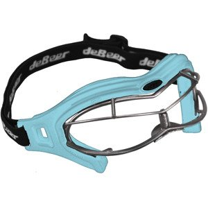 Debeer Lacrosse LUCGSW Women's Goggle/Eye Mask (Light Blue Lens/Silver Frame)
