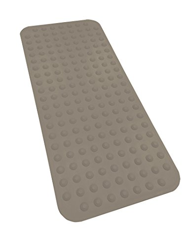 "EXTRA LONG Rubber Bath Mat Non Slip 40"" x 17.5"" Suction Cups"
