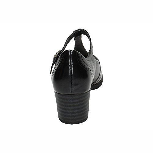 Sandalia 1255 Medio Tacon Pitillos Mujer Negro qS1v8vxw