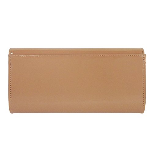 Patent Leather Taupe JNB Women's Candy Clutch qfOO1z