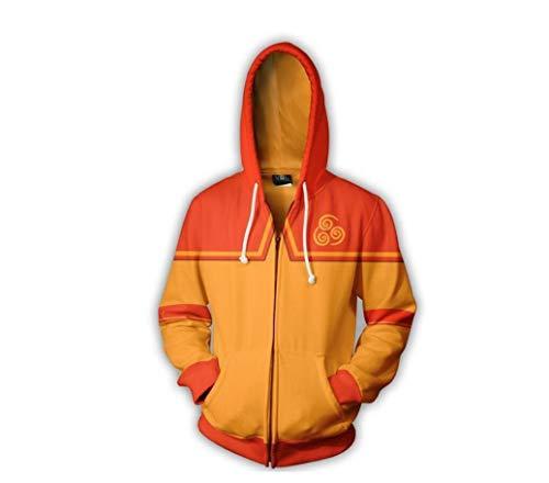 Dahee Aang Cosplay Men Hoodie Halloween Cosplay Sweatshirt