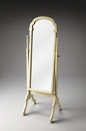 (Butler Cottage White White Rectangular Poplar Hardwood Solids, Mirrored Glass Meredith Cottage White Cheval Mirror)