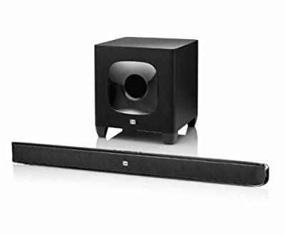 "JBL CINEMA SB400 2.1CH Bluetooth Soundbar with 8"" Wireless Subwoofer (Certified Refurbished)"