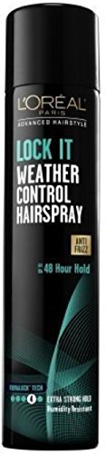 L'Oreal Advanced Hairstyle Lock It Weather Control Hair Spray Extra Strong Hold 8.25 oz (Pack of 4) (Best Hairspray To Hold Curls)