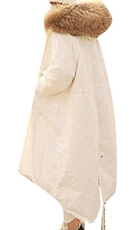 Trapuntato Cappuccio Faux Fur Caldo Lungo Con Womens Tasche Rrive Piumino Cappotto BTnxtt