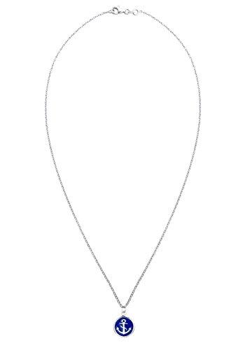 Elli chaîne pour femme avec pendentif en forme d'ancre et maritim argent sterling 925 et émail - 0103253015_45 45 cm