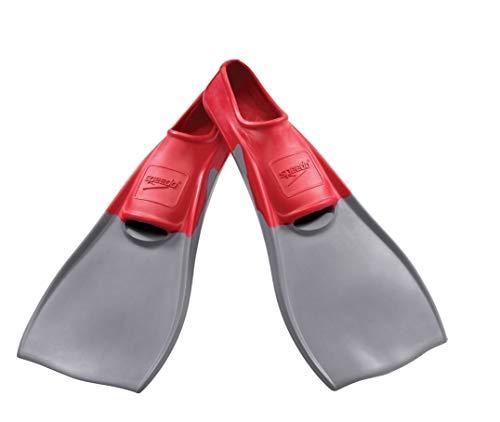 Speedo Rubber Swim Training Fins - XXXS (Y 11-13) - Red