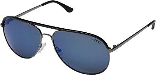 GUESS Unisex GF5013 Gunmetal/Blue/Blue Mirror Lens One Size