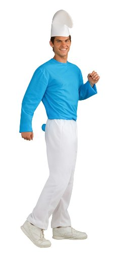 The Smurfs Movie Adult Smurf Costume, Blue/White, Standard