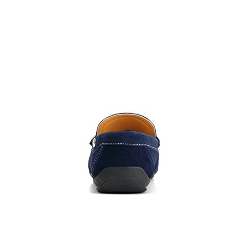 Miyoopark - Mocasines de Ante para hombre Azul
