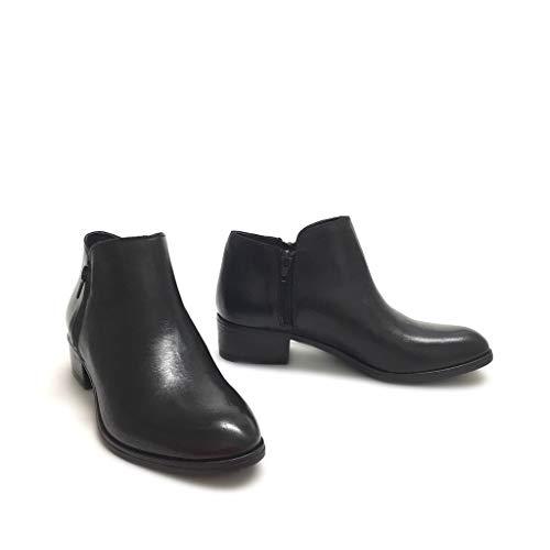 Shoe Made Gar Texani Vera In Donna Stivaletti Zip Con Nero Doppia Bassi Italy Neri Pelle rrqHwPxRd