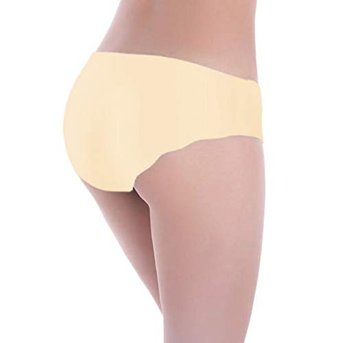 Women's 4PC Invisible Low Waist One-Piece Cut Seamless Brief Underwear Lingerie Thongs Bikini Panties by Lowprofile