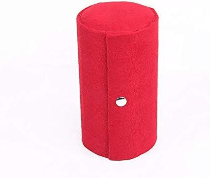 ジュエリーボックス 3段コンパートメントミニベルベットトラベルロールアップジュエリーボックスケースオーガナイザーホルダースナップ閉鎖 (Color : Red)