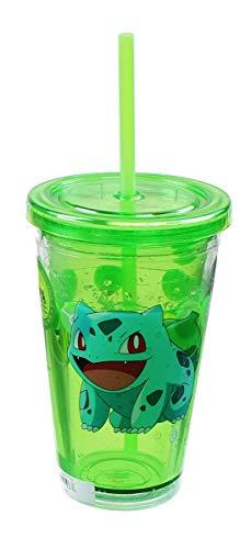 Pokemon Bulbasaur 18oz Carnival Cup w/ Floating Confetti Pokeballs