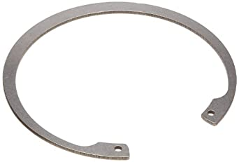 Standard Internal Retaining Ring, Tapered Section, DIN 1.4122 Stainless Steel, Passivated Finish, Meets DIN 472 Specifications, 55mm Bore Diameter, 2mm Thick, Made in US (Pack of 2)