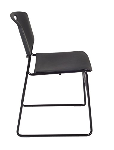 Regency Kobe 30-Inch Square Breakroom Table, Cherry, and 4 Zeng Stack Chairs- Black by Regency Seating (Image #4)