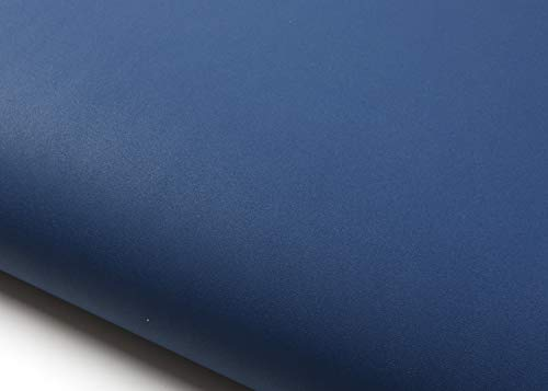 ROSEROSA Peel & Stick Phoenix Solid Textured Vinyl Self-Adhesive Wallpaper Shelf Liner Dark Blue (SL596 : 2.00 feet X 6.56 feet)