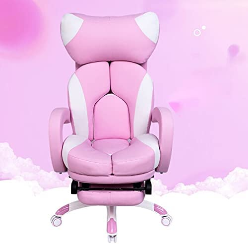 Computer Chair, Gaming Chair for Kids Pink Gameing Chair Chairs Computer Chair Comfortable Chair Gaming Chair Armchair Chair Cute Chairs with Footrest